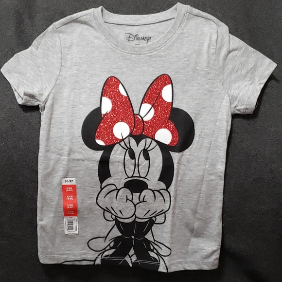 NWT Disney Store Minnie Mouse and Mickey Mouse Girls T Shirt Tee